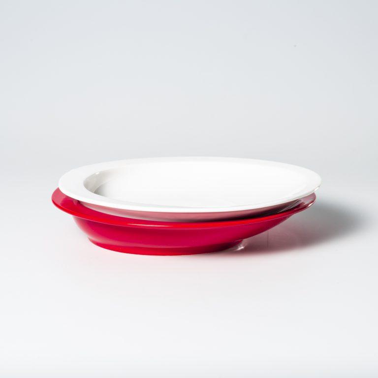 最後の一粒までメタメタすくいやすいカレー皿のスタッキング