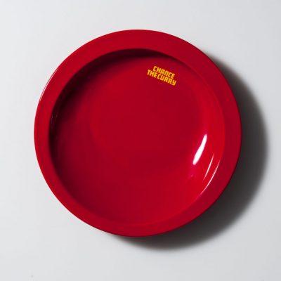 メタメタすくいやすいかれー皿(赤)