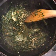 白菜鍋からカリーアレンジなんちゃってサグってカリー