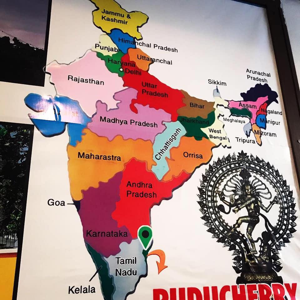 puducherryは南の右