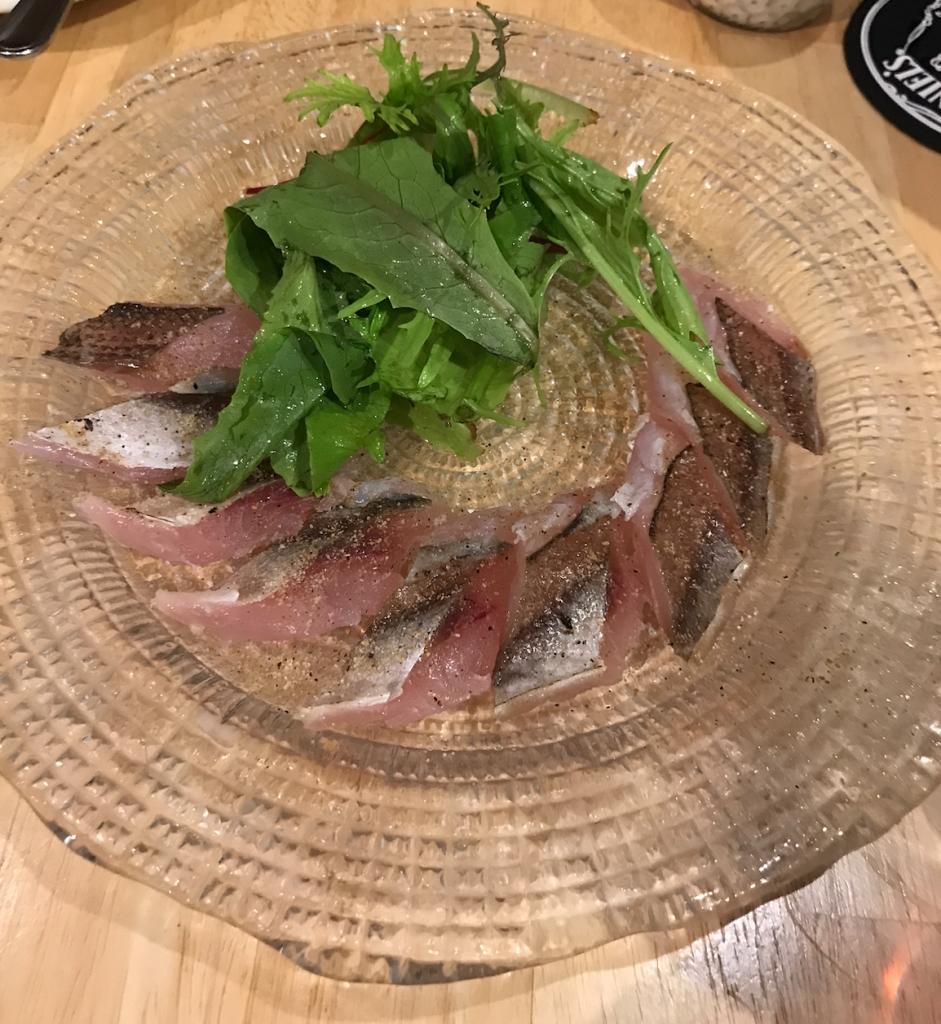 気仙沼 青鮫のスパイスカルパッチョ